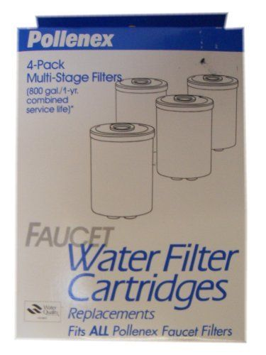 Pollenex Fwp101 4 Pack Multistage Faucet Water Filter Cartridges Filtered Water Faucet Water Filter Cartridges Faucet