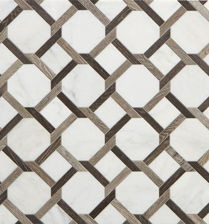 Walker Zanger Sterling Row Collection tile -a combination of porcelain tile  and marble in tones of gray, white and black,   Pattern   Pinterest    Walker ...