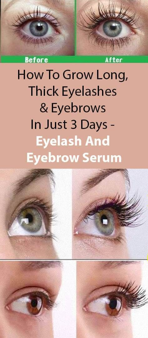 How To Grow Long Thick Eyelashes Eyebrows In Just 3 Days