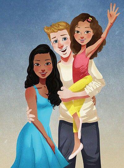 Isaiah Stephens - Interracial family artwork #wmbw #bwwm