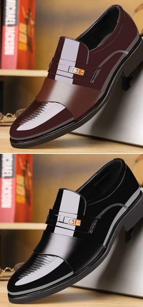 b5366f1515 US$36.85 Men Stylish Cap Toe Color Blocking Business Formal Dress ...