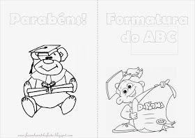 Desenhos Para Colorir Formatura Abc Com Imagens Livros De