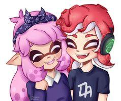 Splatoon Couple Commission By Momo Kuun Splatoon Anime Squid Games