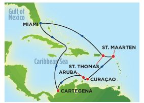 Map Of Southern Caribbean Cruise With Norwegian Cruise Cruise - Southern caribbean map