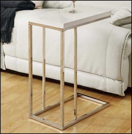 Slide Under Sofa Tables Metal Accent Table White End Tables