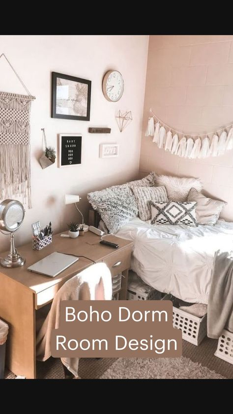 Boho Dorm Room Design