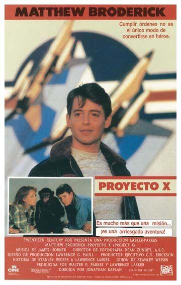 Proyecto X 1987 Tt0093793 Esp Director De Fotografía Maquiavelico Heroe