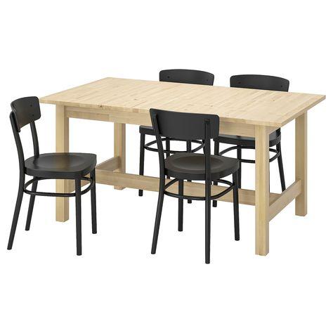 Norden Idolf Tisch Und 4 Stuhle Birke Schwarz Ikea Norden Tisch Esszimmertisch Und Ikea Tisch Norden