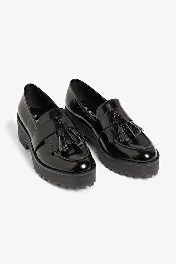 Chunky platform loafers - Black magic