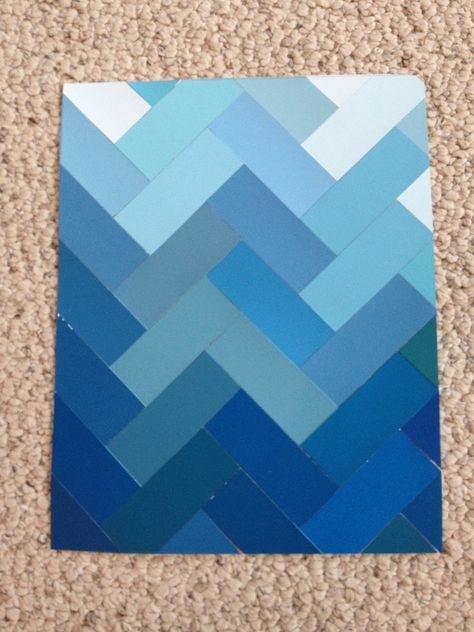 Paint Chip Art: Deep Blue Sea