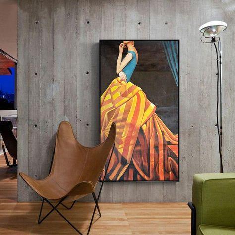 Beautiful Figure Art Fashion Wall Art Poster Luxurious Painting Of Lady – NordicWallArt.com