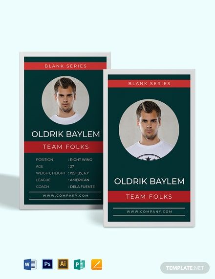 Blank Trading Card Template Word Doc Psd Apple Mac Pages Illustrator Publisher Trading Card Template Business Card Template Design Make Business Cards
