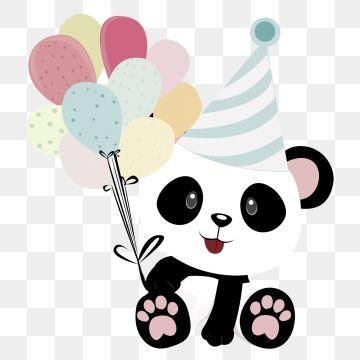 Cute And Pandas With Balloons For Birthdays Png And Psd Panda Images Cute Panda Cartoon Birthday Balloons