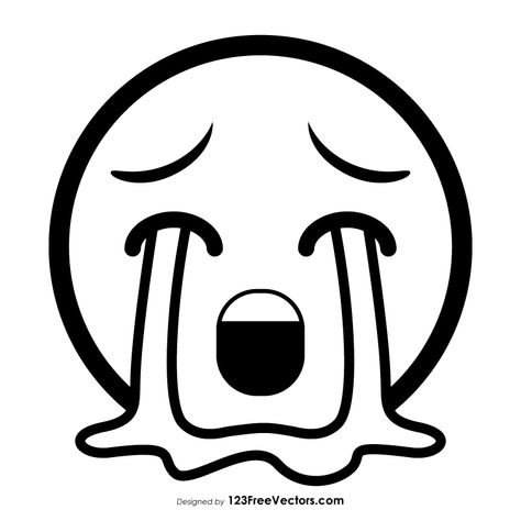 Loudly Crying Face Emoji Outline Emoji Coloring Pages Cute Easy Drawings Art Drawings Sketches Simple