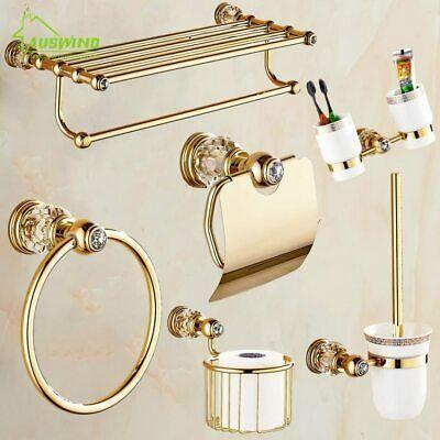 Details About Antique Gold Brass Polished Bathroom Hardware Set