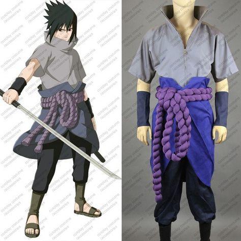 Naruto Uchiha Sasuke Cosplay Costume Anime Customized >>Click-picture-for-details<<