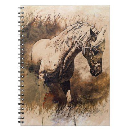 Rustic Stucco Texture Horse Notebook Country Gifts Style Diy