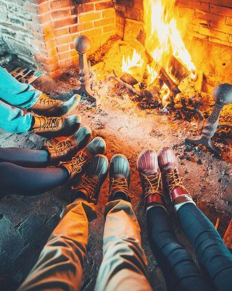 Gather 'round. #BeanOutsider (: Instagram's erickdent) L.L.Bean Boots