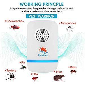2 Répulsif Moustique Repulsif Ultrasons Anti Rat Souris Insecte Cafard Puissant