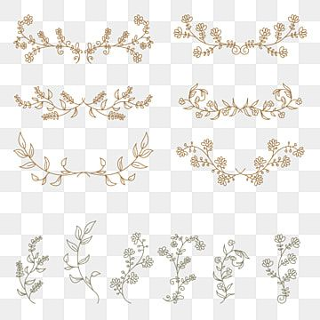 Hand Drawn Floral Elements Vector Set Suitable For Wedding Ornament Trunk Divider Foliage Png And Vector With Transparent Background For Free Download Sketsa Kartu Bunga Vintage Pernikahan Bunga