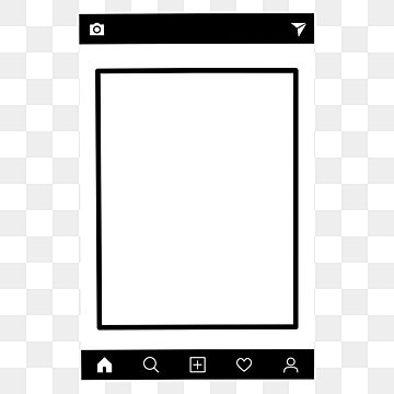 Black And White Instagram Post Page Frame Vector Icon Instagram Frame Border Png And Vector With Transparent Background For Free Download Black And White Instagram Vector Icons Free Instagram Posts