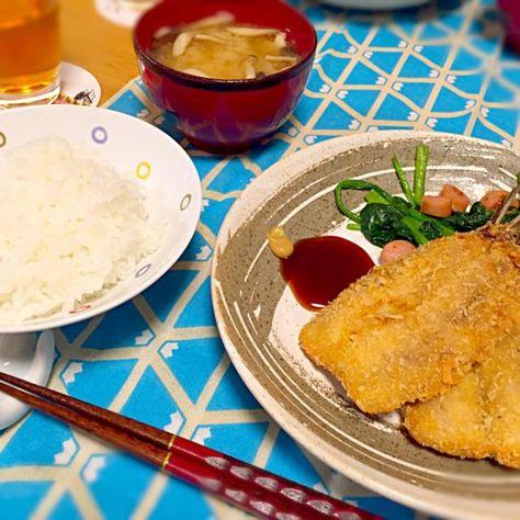 ◎いわしフライ ◎ほうれん草のニンニク炒め ◎味噌汁 です。 - 11件のもぐもぐ - いわしフライ by takosen