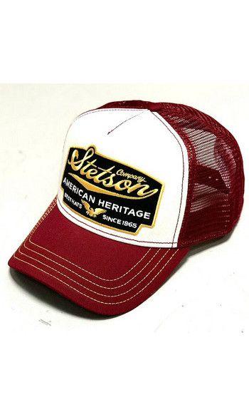 Stetson Burgundy Heritage Trucker Cap Stetson Hats For Men Trucker