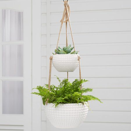 Patio Garden Hanging Planters Hanging Planters Indoor Better Homes Gardens
