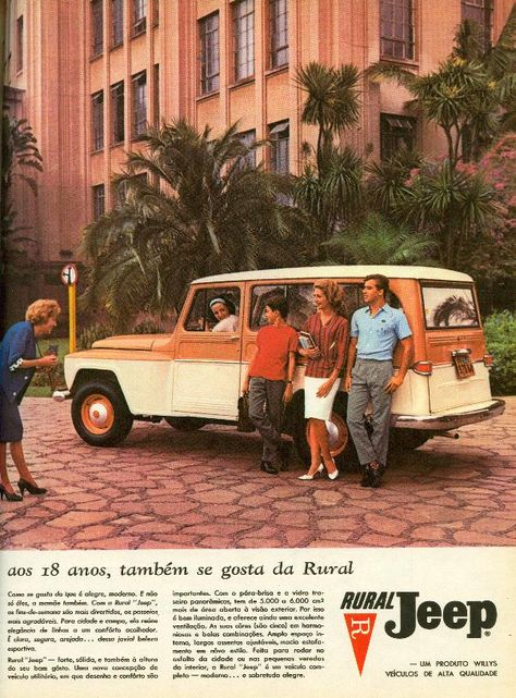 Rural Willys 1963 Jeep Willys Com Imagens Vintage Jeep