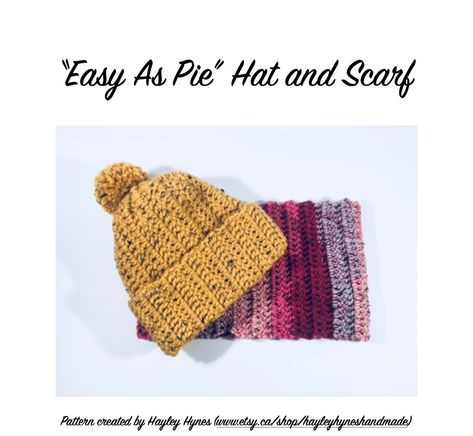Easy As Pie Hat And Infinity Scarf Beginner Crochet Pattern