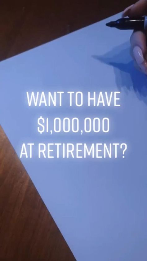 How to Save a Million Dollars by Retirement