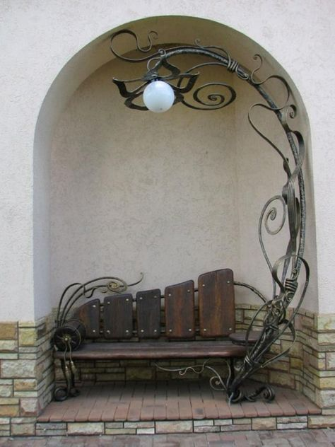 The most awesome garden bench classic ideas 1267309201 gardenbenchideas the awesom awesom awesome bench classic garden gardenbenchideas ideas easy diy potting bench using fence boards Sculpture Metal, Iron Art, Iron Decor, Deco Design, Yard Art, Blacksmithing, Metal Art, Cool Furniture, Outdoor Furniture