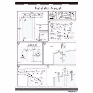 ドア金物 バーンドア バーンドアハードウェア Wソフトクローザー機能付