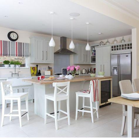 Open-plan kitchen design ideas | Beautiful Kitchens | Housetohome.co.uk