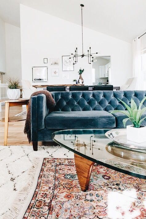 Home Decor Bedroom Ideas Blue Velvet Living Room Sofa Design In 2020 Home Decor Trends Living Decor Living Room Designs