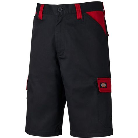 Short de travail Dickies Everyday Noir / Rouge 44