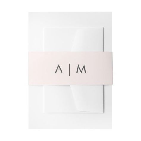 "Minimalist Foliage | Blush Pink Wedding Monogram #simple #modern #minimal #basic #initials #monogram #wedding #elegant #""blushpink"" #""pinkandgray"""