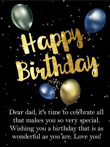 Pin On Birthday Wishes For Dad