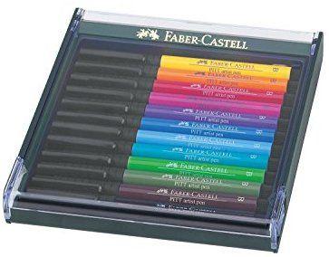 FABER-CASTELL Tuschestift PITT artist pen 4er Etui