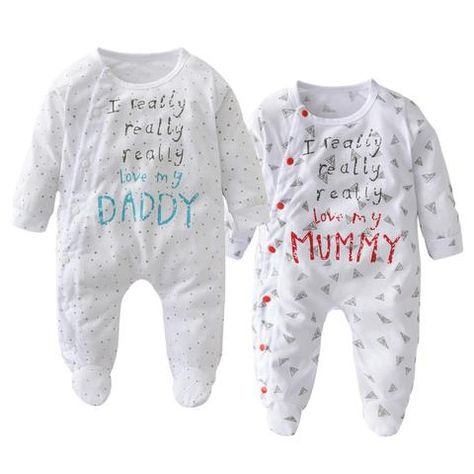 2a26401f8 2018 Autumn Sale Newborn Cotton baby Boys Girls Rompers I Love My ...