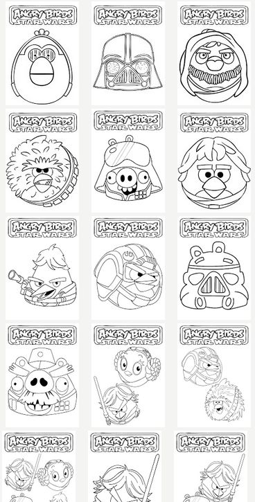 Awesome Angry Birds Star Wars Crafty Party Color Sheets And Mazes