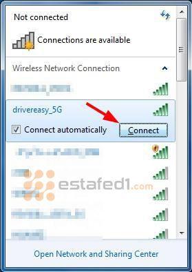 تشغيل الواي فاي في الكمبيوتر ويندوز 7 شرح بالصور Estafed1 Wireless Networking Networking Connection