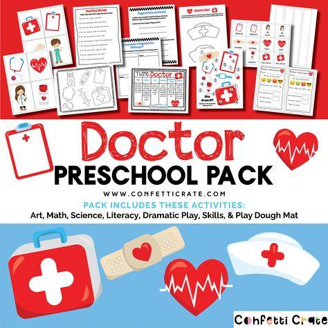 Doctor Educational Preschool Activities - Printable PDF