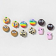 Sweet Tooth Stud Earrings Set of 6 – accessory