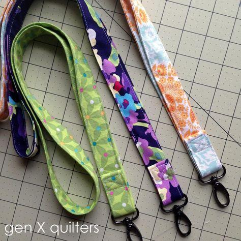 Quick Teacher Gift - Lanyard Tutorial (Gen X Quilters) Quilting Tutorials, Sewing Tutorials, Sewing Patterns, Dress Tutorials, Tutorial Sewing, Tutorial Crochet, Skirt Patterns, Blouse Patterns, Sewing Blogs