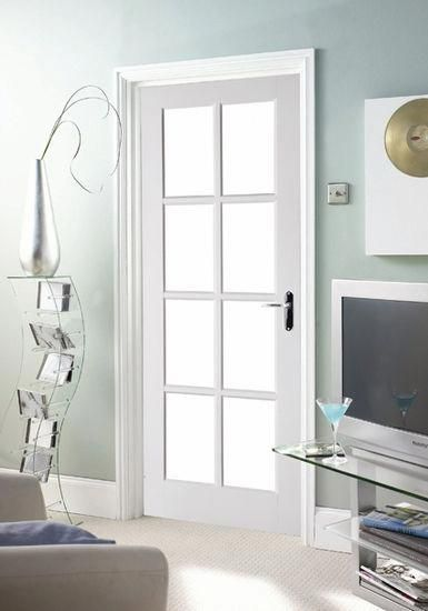 Interior Doors With Glass Panels Avesta 8 Light Clear Glazed