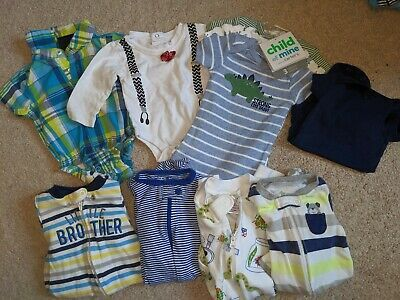 Advertisement Ebay Used 10 Pc Lot Of Newborn Baby Boy Clothes Sleepers Baby Boy Clothes Newborn Baby Boy Outfits Boy Outfits