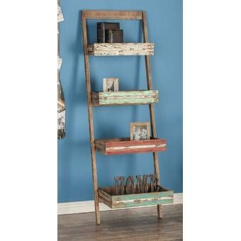 Starr Standard Bookcase Shelves Vintage Bookshelf Leaning Shelf