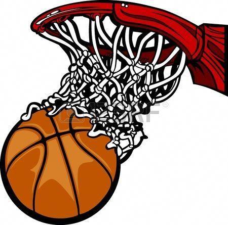 Basketball Hoop With Basketball Cartoon Basketball Clipart Basketball Hoop Basketball Moves