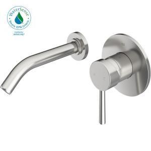 American Standard Serin Wall Mount 2 Handle Bathroom Faucet In Brushed Nickel 2064 451 295 Bathroom Faucets